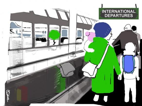 kvinna och barn flyr utomlands mössa2 liten